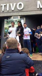 Paulo e Toño no podium con Pedro Nimo