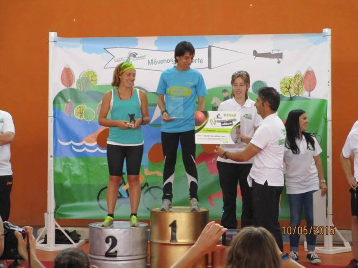 Pilar y Ana en el podium femenino
